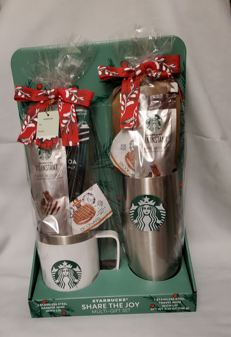 Starbucks Holiday Gift Set Stainless Steel 1 Mug And 1 Tumbler With Lid