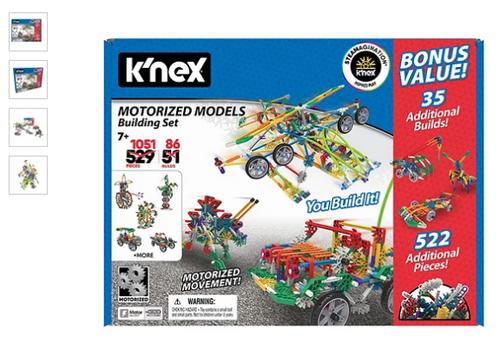 K'NEX Motorized Models Building Set, Contains 1,051 parts ( 980279266)