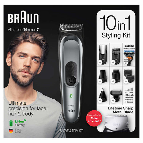 Braun 10-in-1 Trimmer MGK7221 Beard Trimmer for Men, Body Grooming Kit & Hair Clipper (MGK7221)