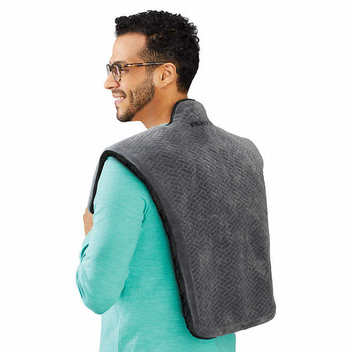 Homedics WEIGHTED COMFORT WRAP Vibration & Shooting Heat Shoulder Blanket (031262099396)