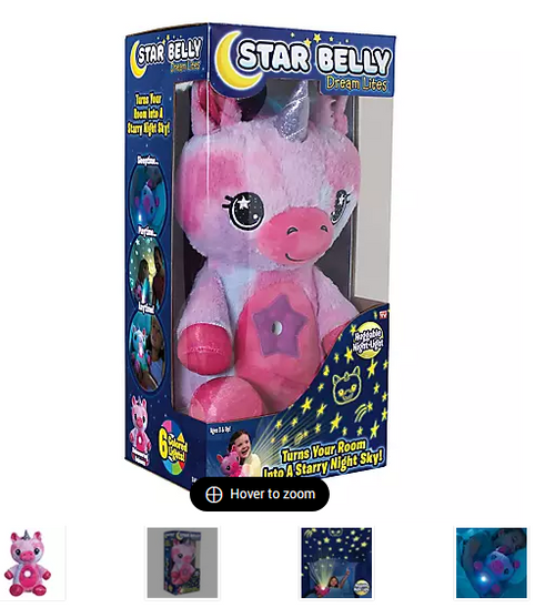 Star Belly Dream Lites - Pink and Purple Unicorn As Seen on TV (SBBPPU-CD8)
