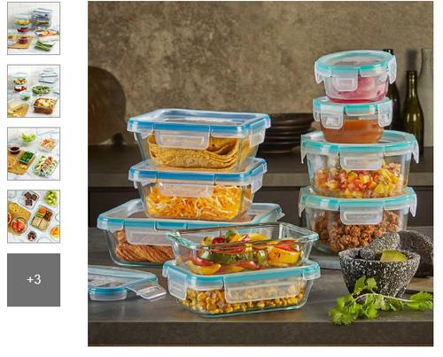 Snapware Pyrex 18-piece Glass Food Storage Set (1103106)