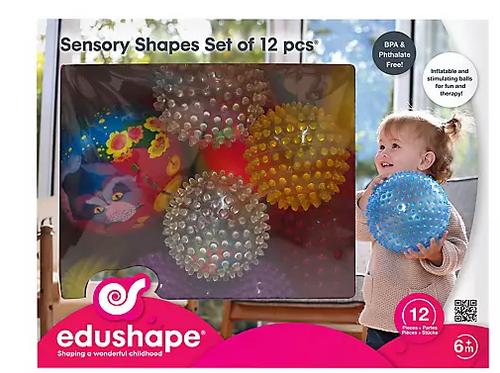 Edushape 12-Pc. Sensory Balls and Shapes (705182 )