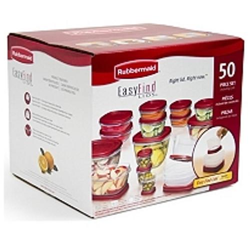 Rubbermaid 50-Piece Easy Find Lids Food Storage Set ( 670173)