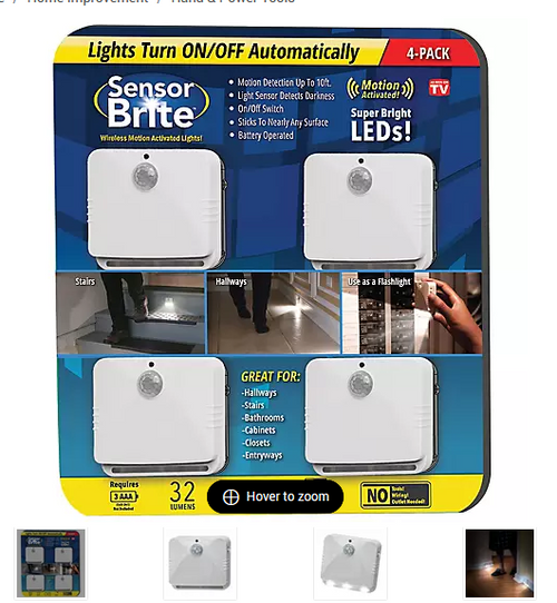 Sensor Brite Motion Activated LED Night Light, 4 pk  SBCLUB4-CD6