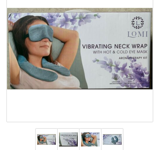 LOMI Vibrating Neck Wrap Aromatherapy Kit, Lavender 680079461799