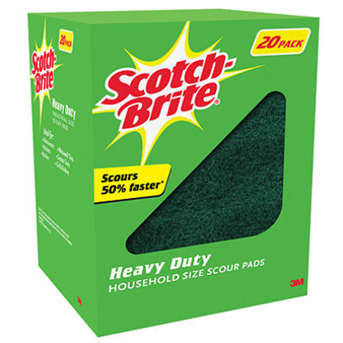 Scotch-Brite™ Heavy Duty Scour Pads - 20 ct. (220-6X9-23L)