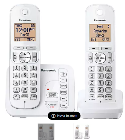 Panasonic DECT 6.0 2-Handset Cordless Phone with Call Block and Answering System ( KX-TG7122SK)