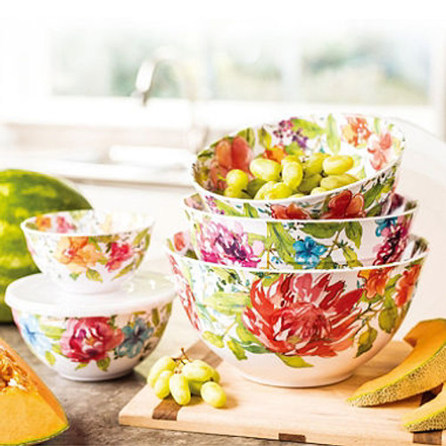 Melamine 10-Piece Mixing Bowl Set (Assorted Colors) (980090219) 980161934