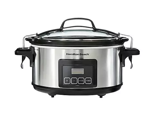 Hamilton Beach Stay or Go 6-Qt. Programmable Slow Cooker - Stainless Steel (33561)