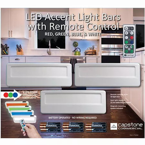 CAPSTONE LED ACCENT LIGHT BARS WITH REMOTE (631052006209)