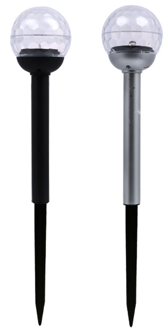 Textured-Globe Solar Stake Lights, 12.5 in. (302595)