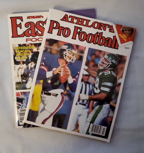Vintage Athlon's 1985 Football Edition Great Collectibles Buy the set of 2 n' Save More