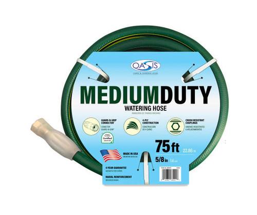 """Medium Duty Garden Hose 5/8"""" x 75' (os5875)"""
