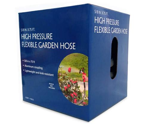 "High Pressure Flexible Garden Hose 5/8"" x 75'"