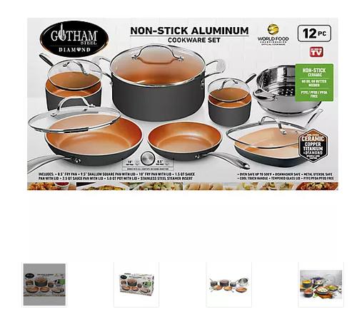 Gotham Steel Diamond 12 Pc. Cookware Set (G 7132 )
