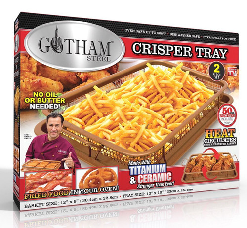 Gotham Steel Crisper Tray XL with Nonstick Copper Surface - As Seen on TV (080313014635)