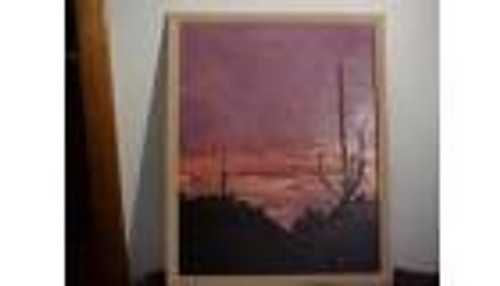 Desert Sunset Scene Wall Decor