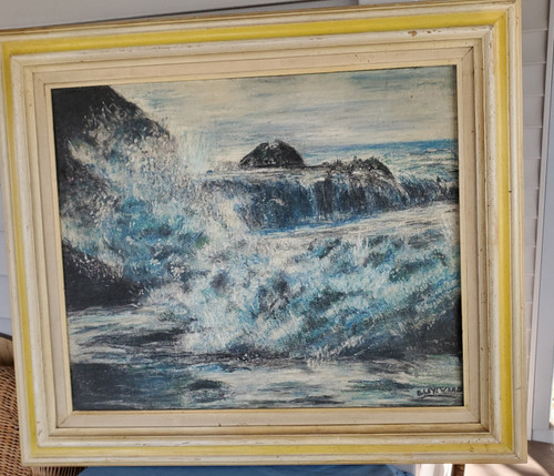 Sea Side on Shore Painting Wall Decor (3127)