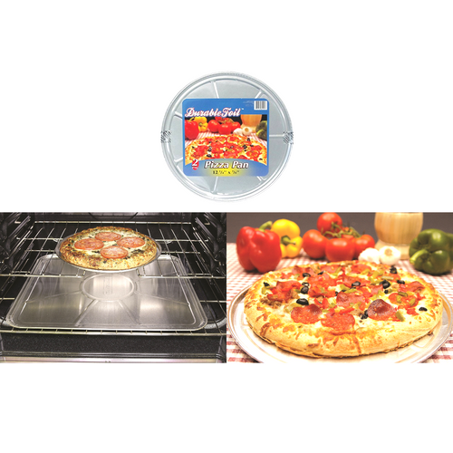 "Durable Foil Round Pizza Pan, 12-1/4"" Round pk of 2 Buy the Lot N' Save More ( D80020)"