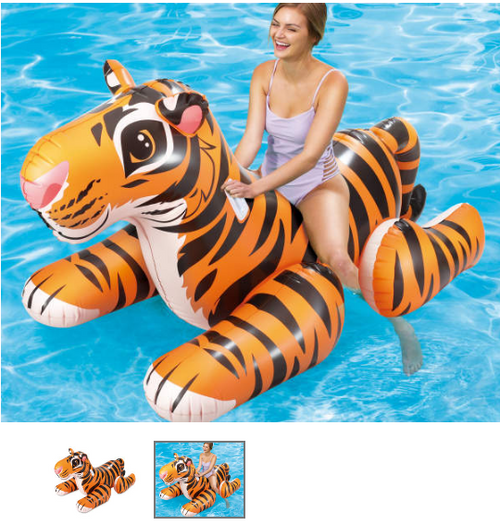 Tiger Inflatable Ride-on Pool Float (tirpf bl)