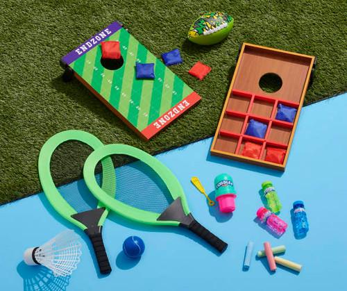 Play Zone Tennis Racket & Badminton Set,Tee-Ball Batting set Your Choice (tee ball bl)
