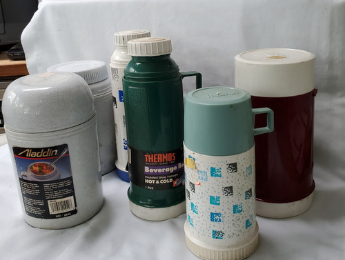 Thermos & Aladdin Food Bottles Buy the Salvage Lot of 6