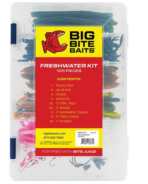 Big Bite Baits 105-Pc. Fishing Kit ( FRSHKIT-03 )