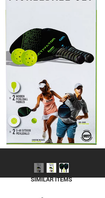 Franklin Sports 2-Player Pickleball Paddle and Ball Set (52737 )