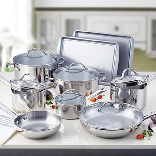 Farberware Stainless Steel 15-Pc. Cookware Set (70132-C )