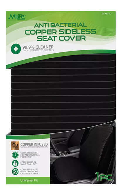 MiLife Health Antimicrobial Copper Infused Sideless Seat Cover ( ML-ABC-SC-1)