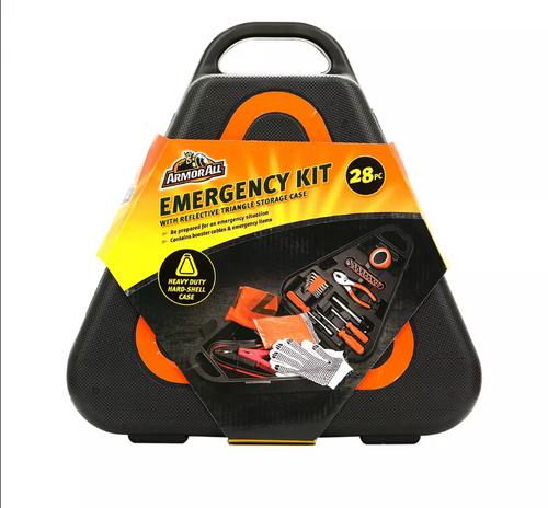 Armor All 28 Piece Triangle Emergency Kit in Hard Case ( 3AAEM0636B1L2)