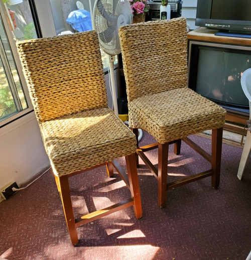 Wicker Dining Side Chair - Set of 2