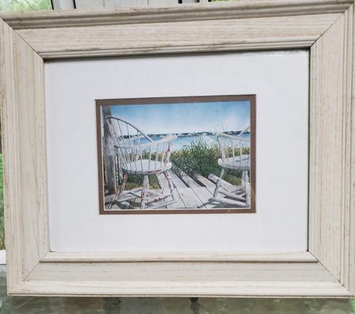 "Wood Framed Print ""Buy the Dock"" (buy the dock)"