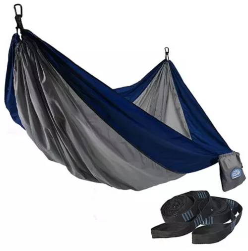 Equip 2- Person Recycled Fabric Portable Hammock with Straps ( 980327499)