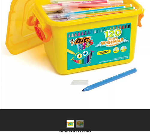 BIC 120-Pc. Ultra Washable Kids Coloring Markers Set ( WC1BJ278-A-AST )