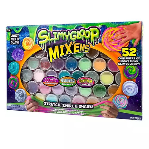 SlimyGloop Mix'Ems Ready-Made Slimes, 52-Pack ( 210351)