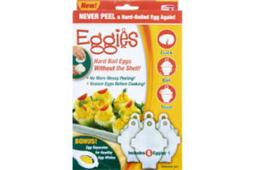 Eggies Hard Boil Eggs Without The Shell Cooker As Seen On TV