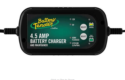 Battery Tender 4.5 Amp Super Smart Battery Charger & Maintainer a ( 022-0341-COS-WH)