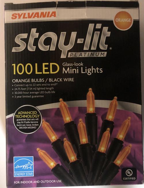 Sylvania - 100 Led Glass-Look Mini Lights Stay Lit (883624347603)