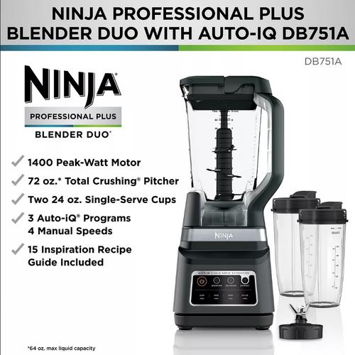 Ninja Professional Plus Blender DUO with Auto-iQ ( DB751A )