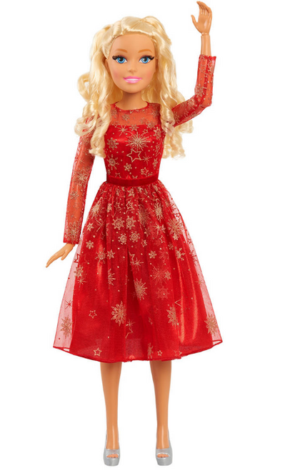"Barbie 28"" Holiday Best Fashion Friend Doll - Blonde ( 63708 )"