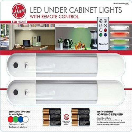 Hoover LED Under Cabinet Lights with Remote Control (2 Pack) (980029355)