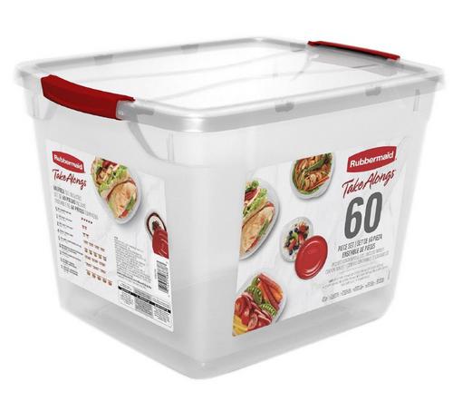 Rubbermaid 60-Piece TakeAlongs Food Storage Set (1839511)