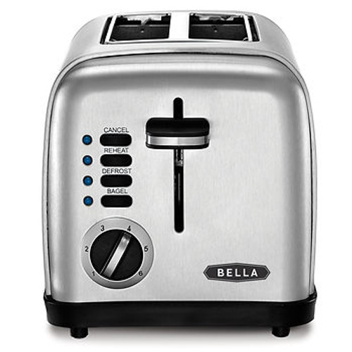 Bella 2-Slice Toaster - Brushed Stainless Steel