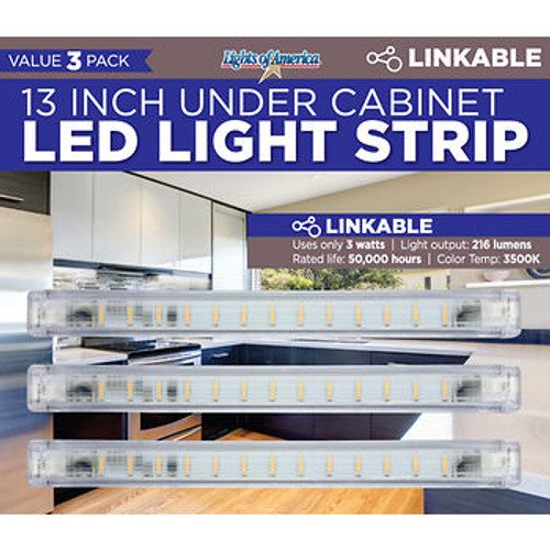 "Lights Of America 13"" LED Strip Light, 3 pk. ( 7613)"