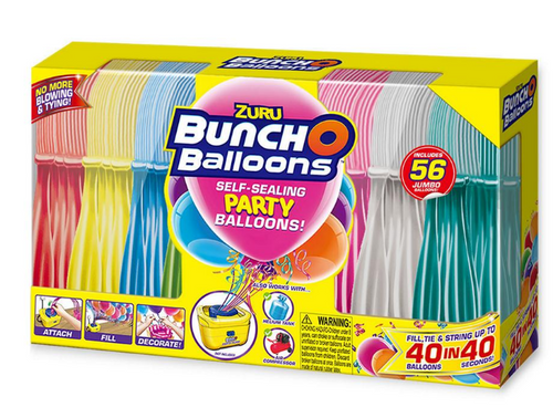 Zuru Bunch O Balloons Self-Sealing Party Balloons, 56 ct (56208TQ1-S001 )