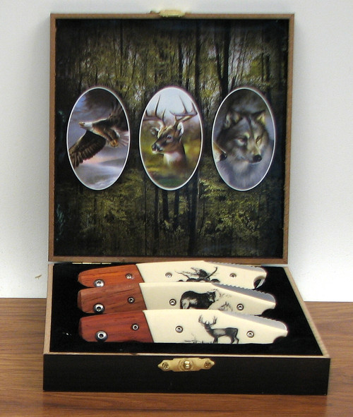3 Piece Knife Collector Set in Box