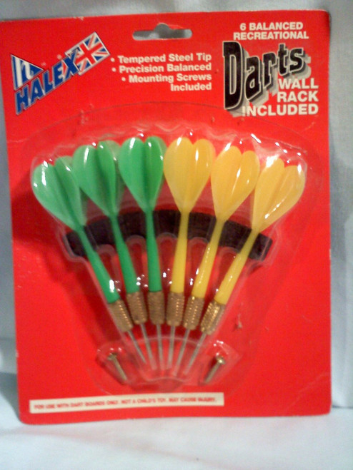 Halex 6 Balance Darts with Rack