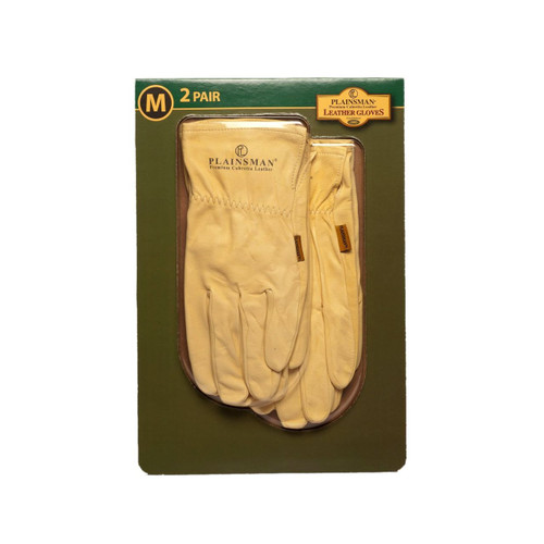 Plainsman Leather Gloves - 2 Pair ( PL-100)